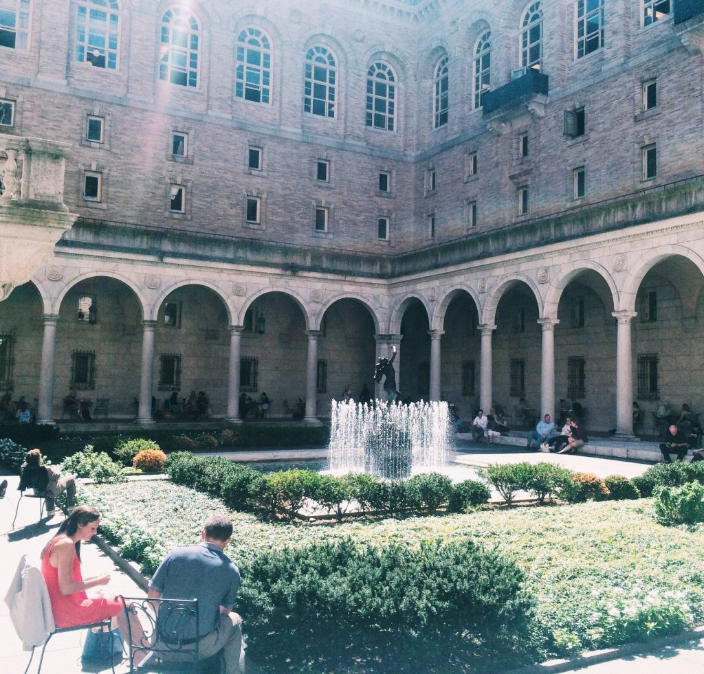 Boston Library Courtyard