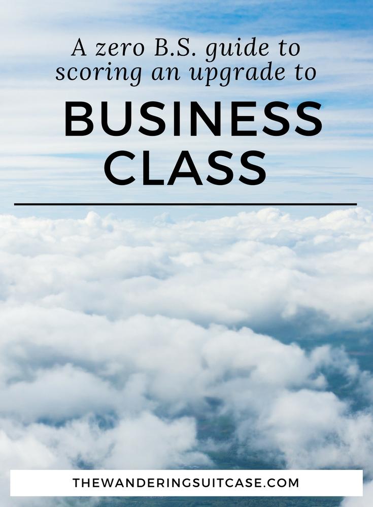 Scoring an upgrade to Business Class