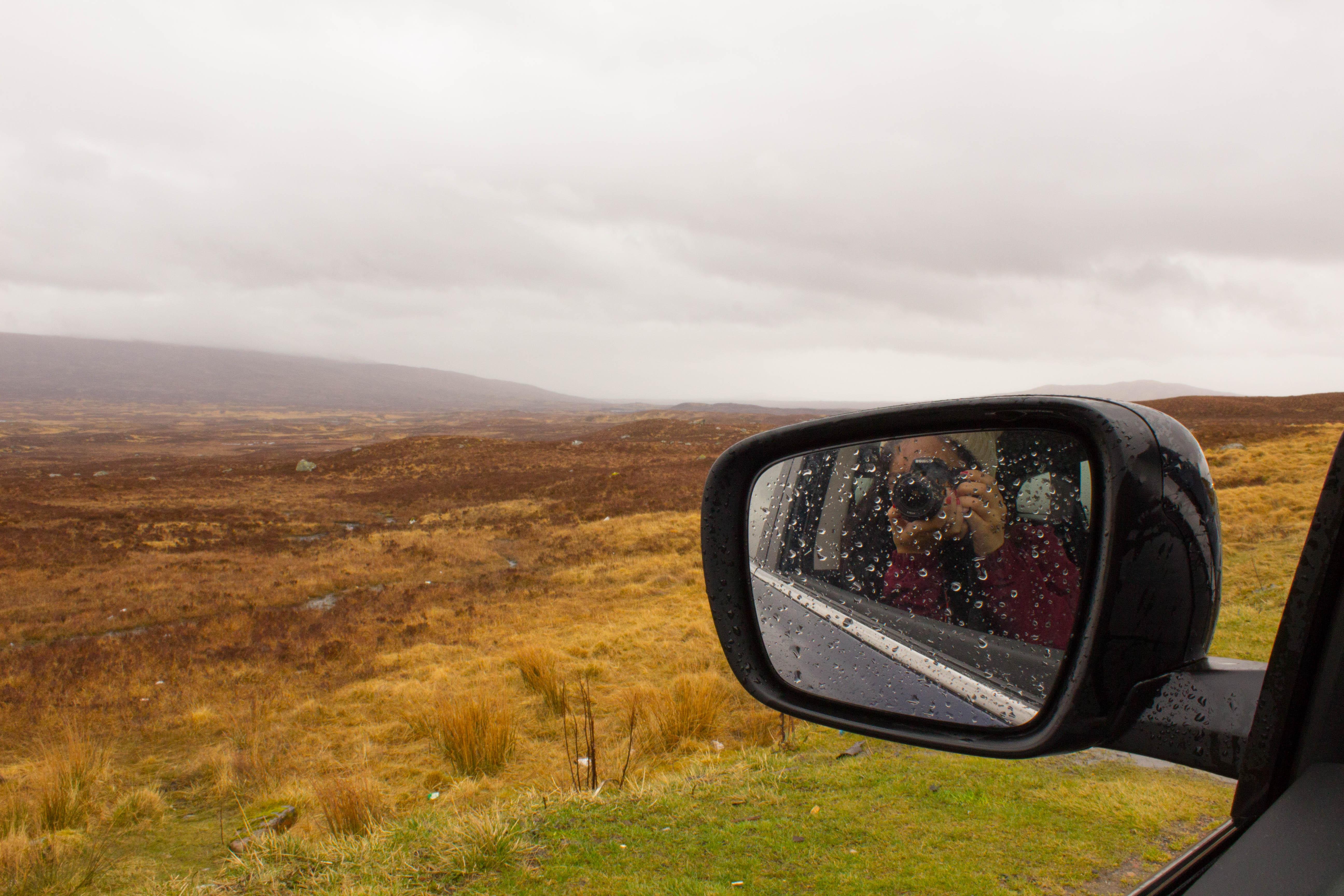 Driving on the Isle of Skye - car mirror