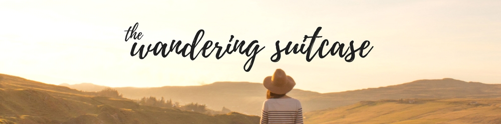 the wandering suitcase – header