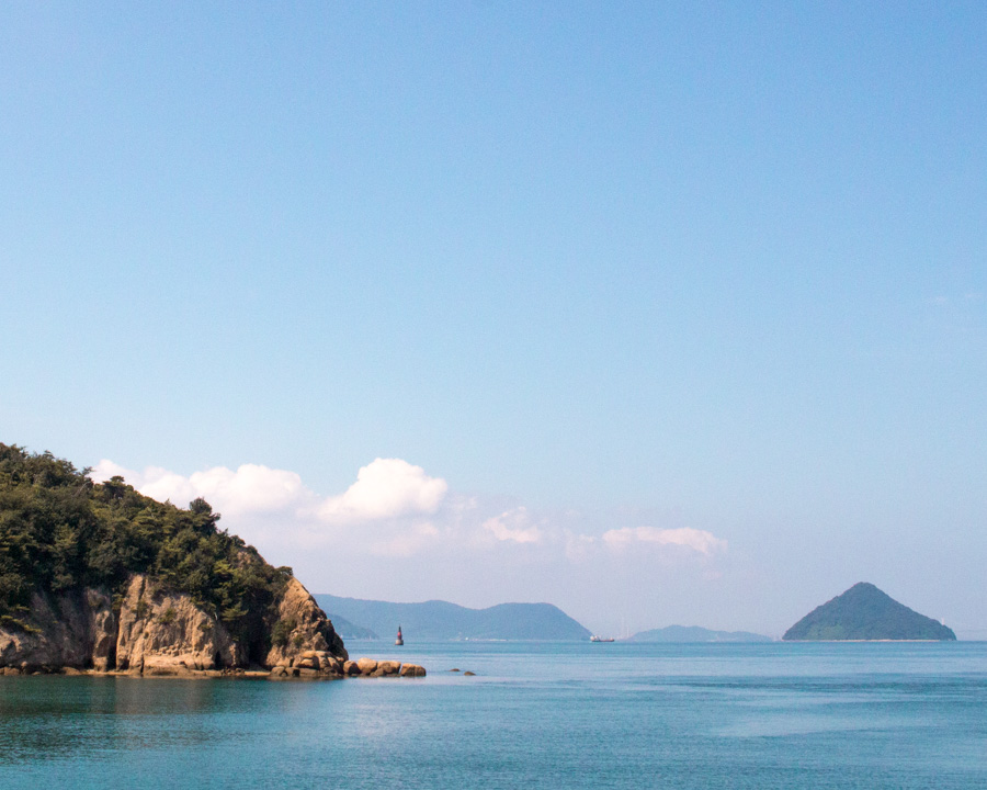 Sea side views Naoshima