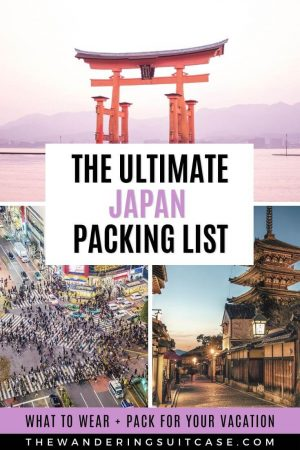 Packing list for Japan