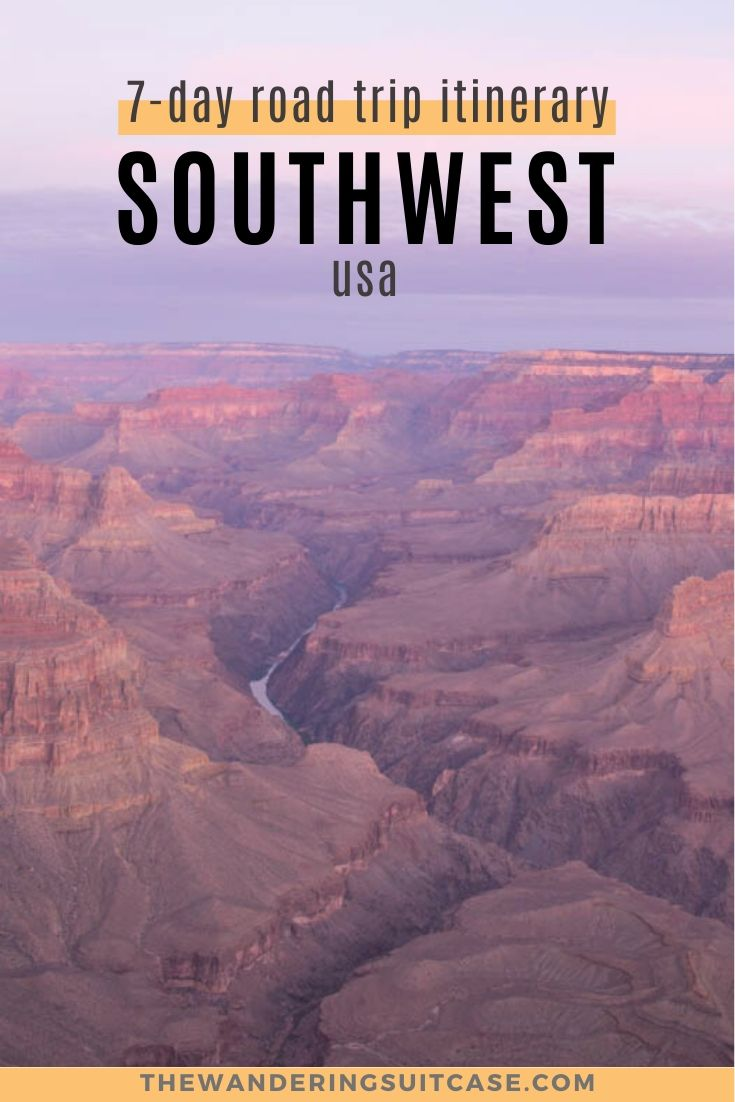 7 day road trip itinerary southwest usa