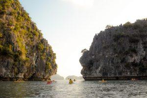 Halong bay alternative - kayaking at bai tu long bay
