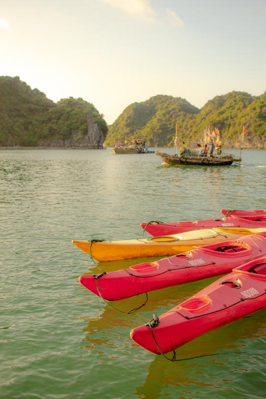 Packing List for Vietnam - ha long bay kayaking
