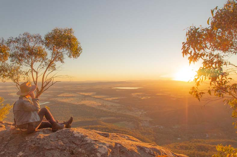 grampians hikes - boroka lookout at sunrise