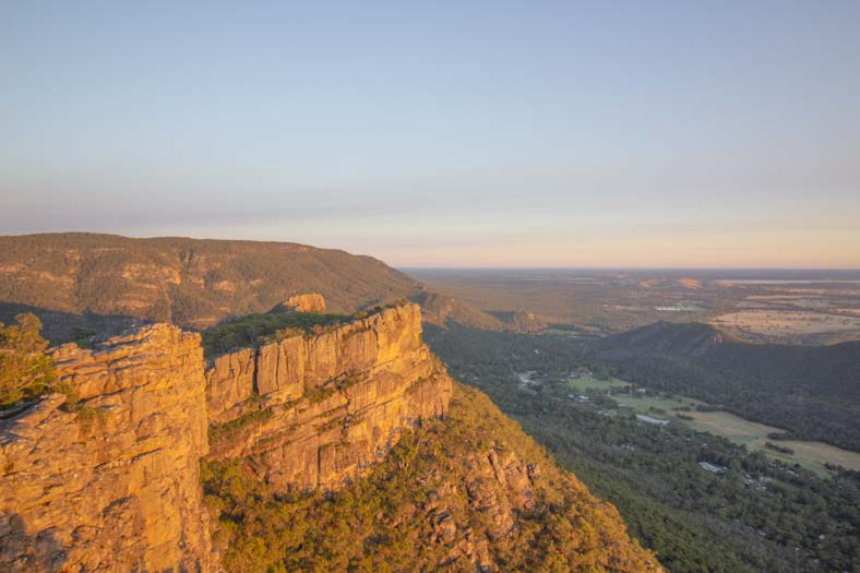 pinnacle grampians - at sunrise