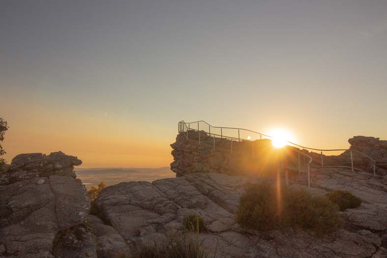 pinnacle grampians - lookout point at sunrise