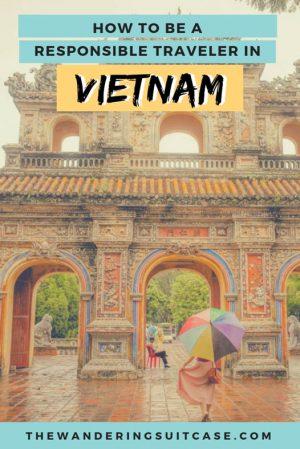 responsible travel in vietnam - pinterest image