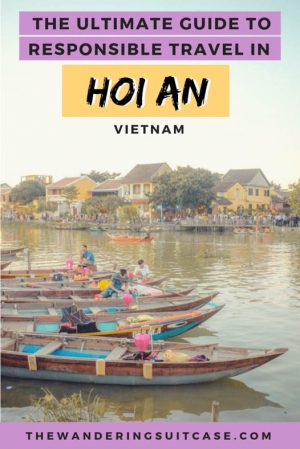 responsible travel in Hoi an - pinterest