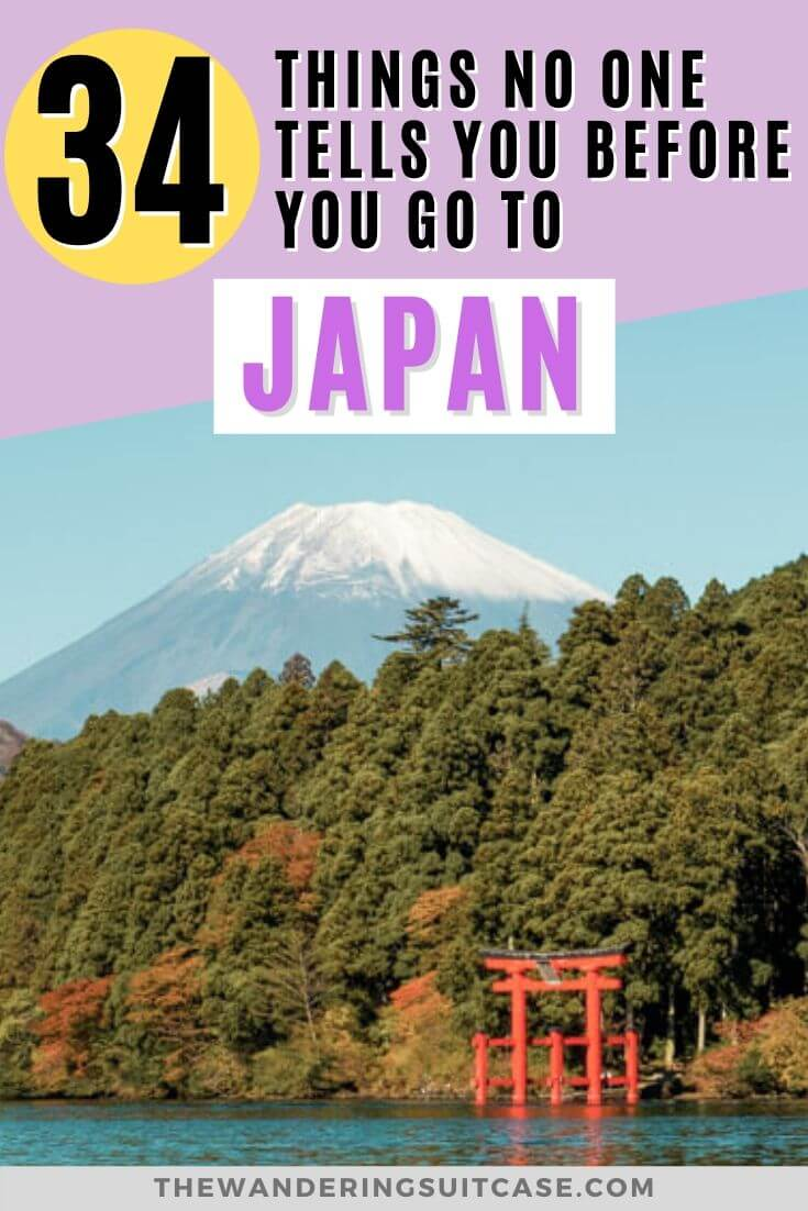 34 Things no one tells you before you go to Japan