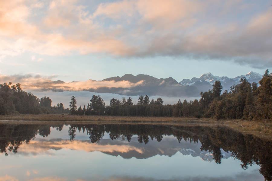 10-day new zealand south island itinerary - lake matherson track