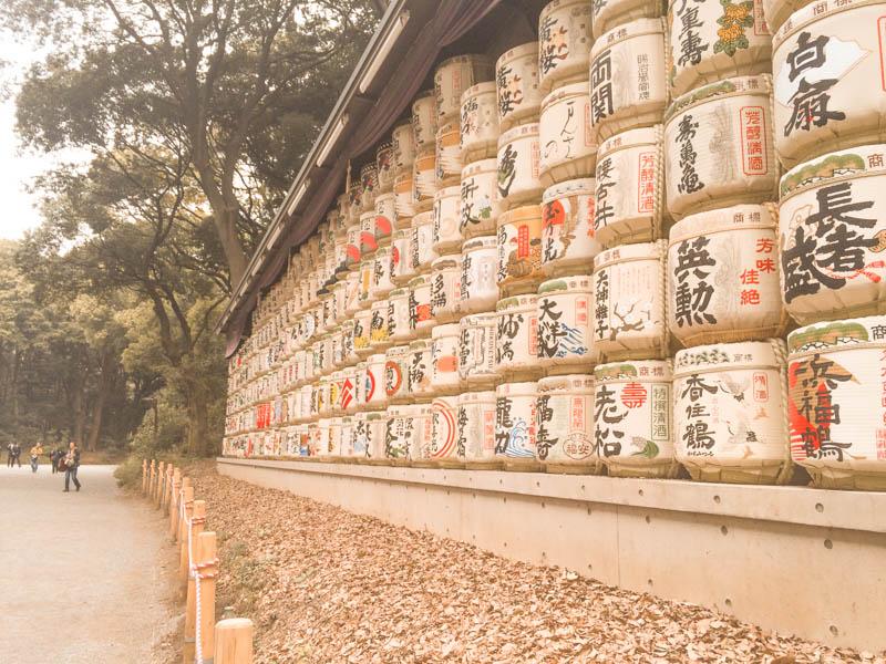 Instagrammable places in Tokyo - sake barrels