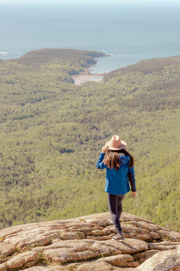 acadia national park itinerary - cadillac mountain view