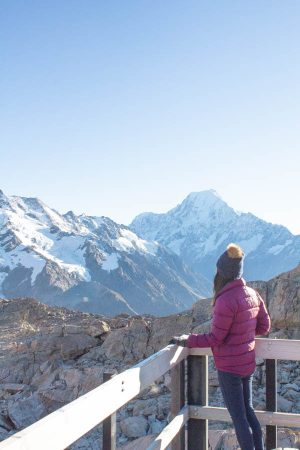 view from Mueller Hut of Mt Cook
