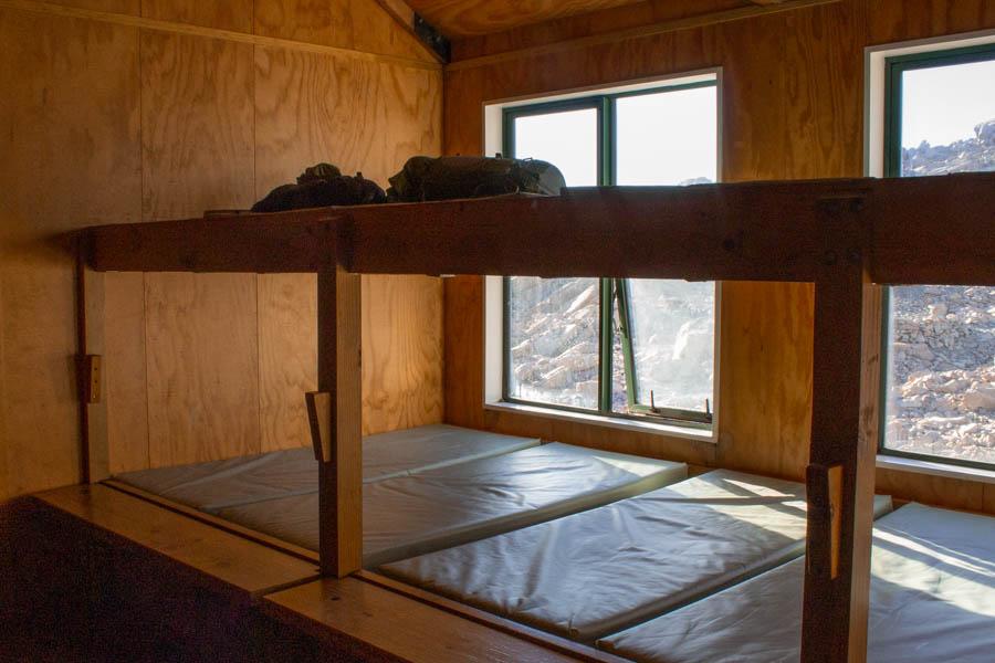 hiking Mueller Hut for beginners - bunk beds