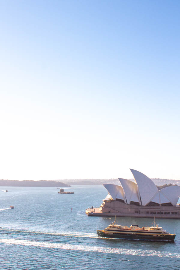4 days in Sydney - view from walking Sydney Harbour Bridge