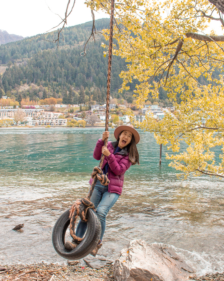 Instagram spots in Queenstown - Rope Swing