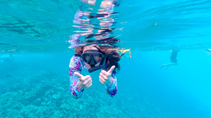 Initial thoughts Hawaii - Snorkeling Selfie