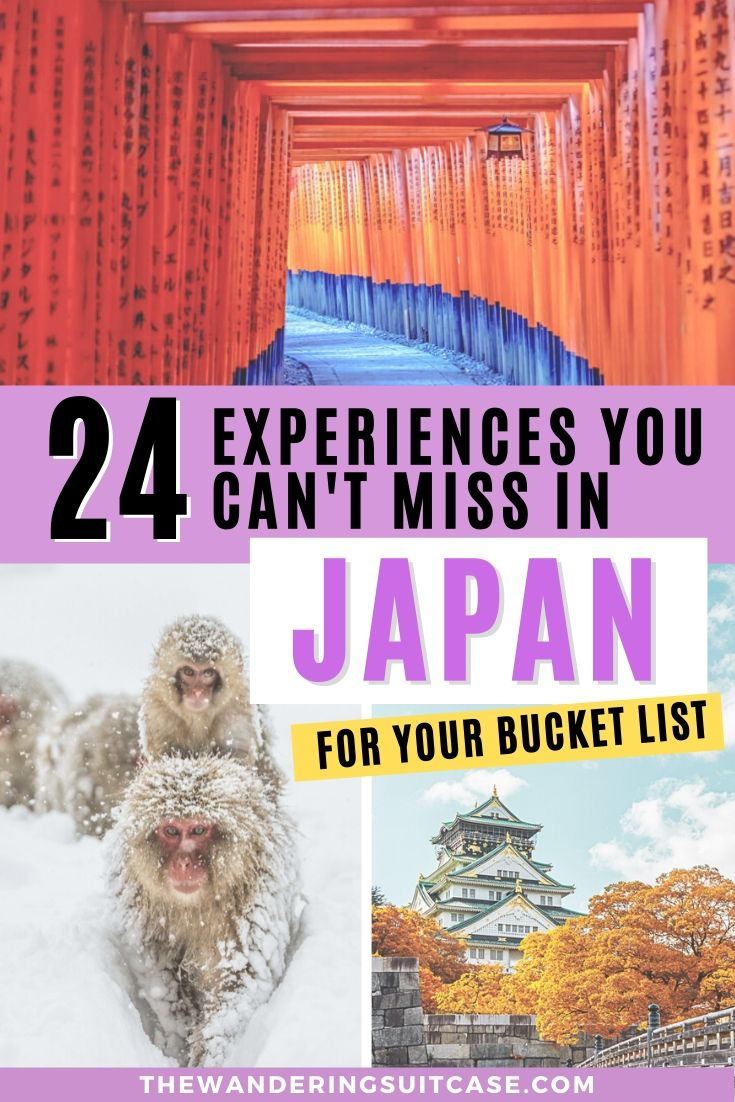24 Experiences you can't miss in Japan