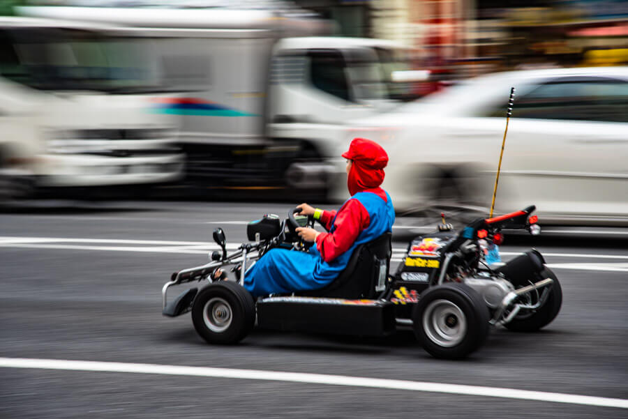 Bucket list experiences Tokyo - Go Kart Super Mario