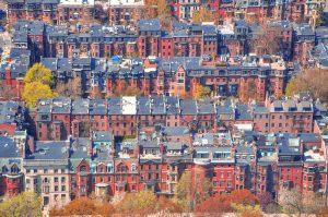 Boston Back Bay sky view