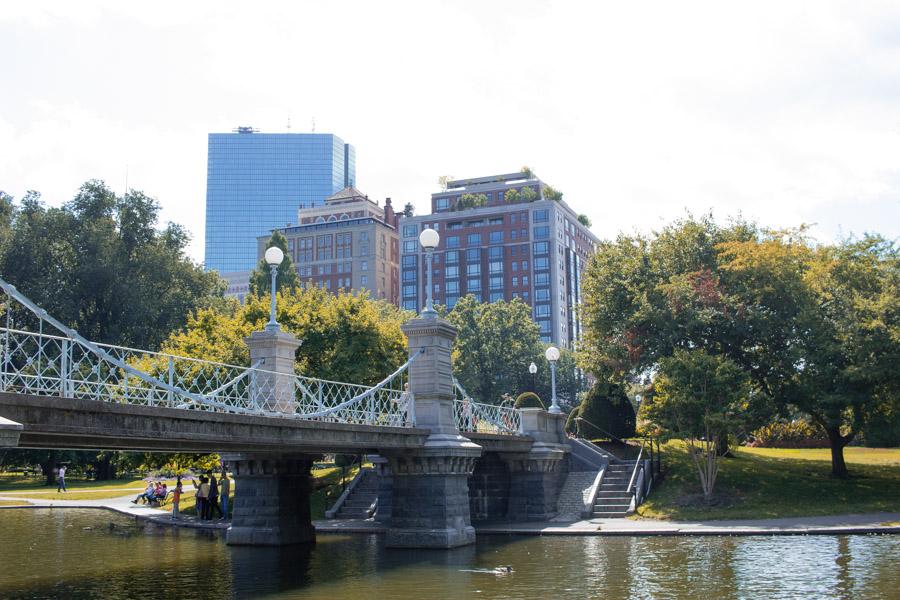Lagoon bridge Boston Public Gardens