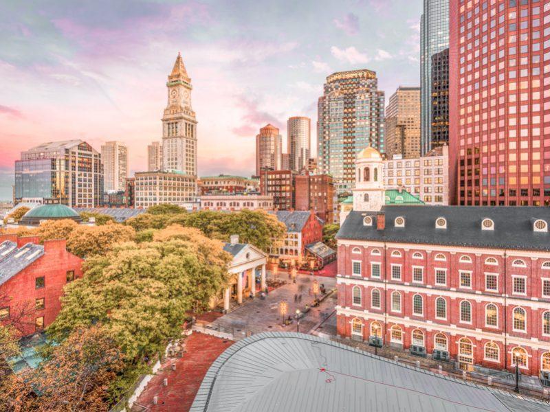 View of Boston city