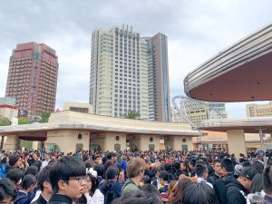 wizarding world harry potter osaka - crowds at opening