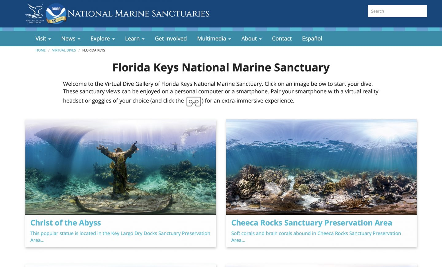 exploring outdoors from inside - Florida Keys National Marine Sancturary