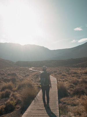 Beginning of Tongariro Alpine Crossing
