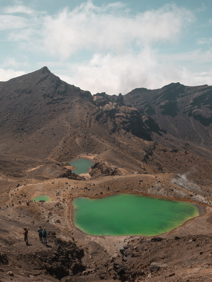 View of Emerald Lakes Tongariro Alpine Crossing