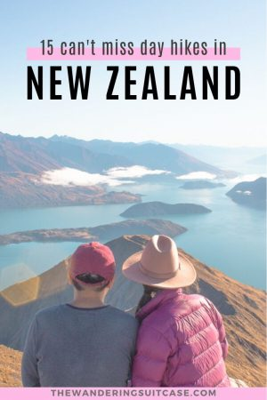 15 can't miss day hikes New Zealand - Pinterest Image