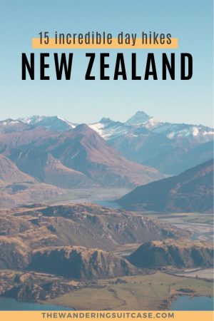 Incredible Day Hikes New Zealand - Pinterest Image