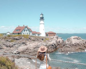 View of Portland Head Lighthouse, Maine